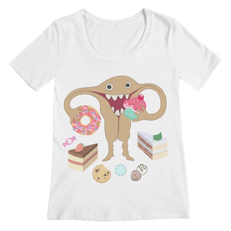 Hungry Uterus Sweet Tooth Women's Regular Scoop Neck by heARTcart's Artist Shop