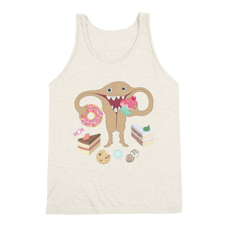 Hungry Uterus Sweet Tooth Men's Triblend Tank by heARTcart's Artist Shop