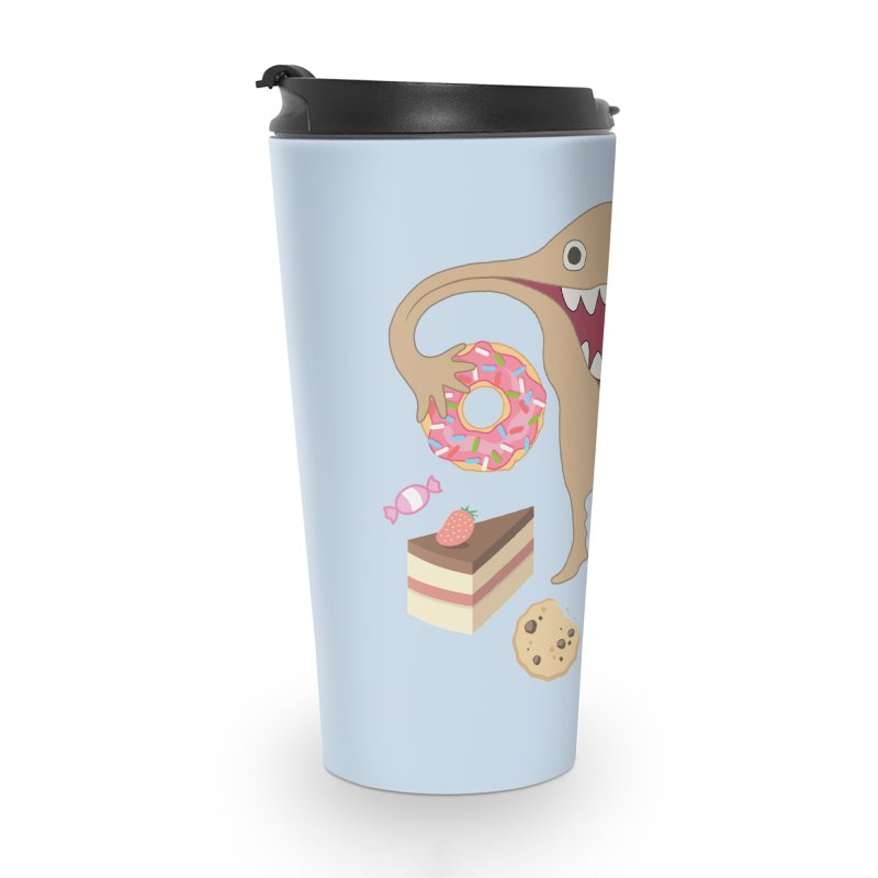 Hungry Uterus Sweet Tooth Accessories Travel Mug by heARTcart's Artist Shop