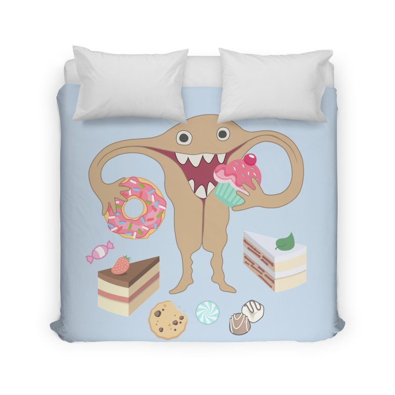 Hungry Uterus Sweet Tooth Home Duvet by heARTcart's Artist Shop