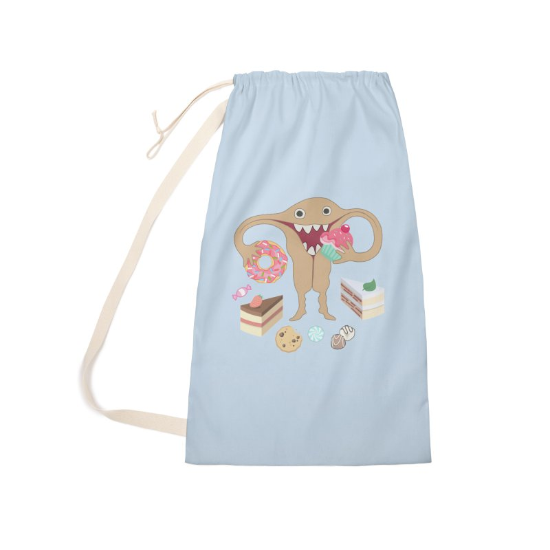 Hungry Uterus Sweet Tooth Accessories Laundry Bag Bag by heARTcart's Artist Shop