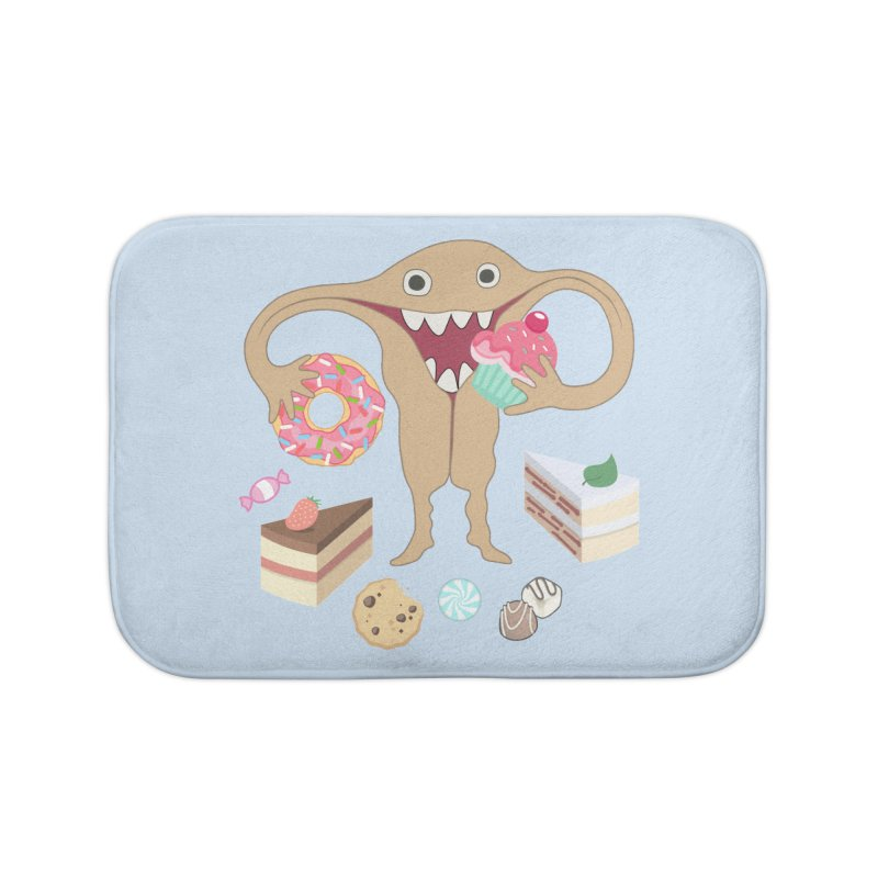 Hungry Uterus Sweet Tooth Home Bath Mat by heARTcart's Artist Shop