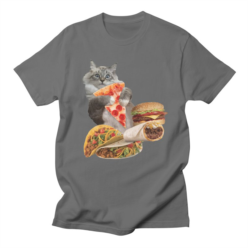 Taco Pizza Burger Cat  Men's T-Shirt by heARTcart's Artist Shop