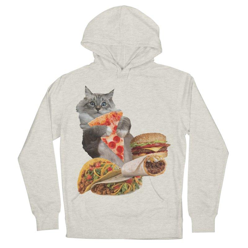 Taco Pizza Burger Cat  Women's Pullover Hoody by heARTcart's Artist Shop