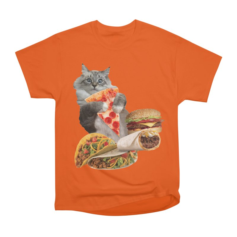 Taco Pizza Burger Cat  Women's T-Shirt by heARTcart's Artist Shop