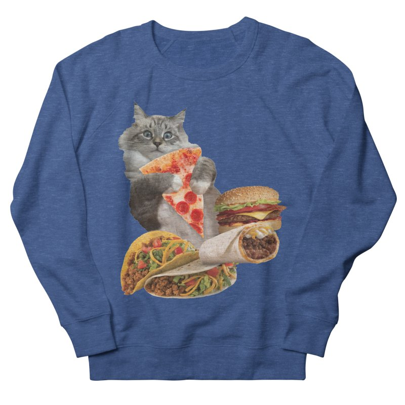 Taco Pizza Burger Cat  Men's Sweatshirt by heARTcart's Artist Shop