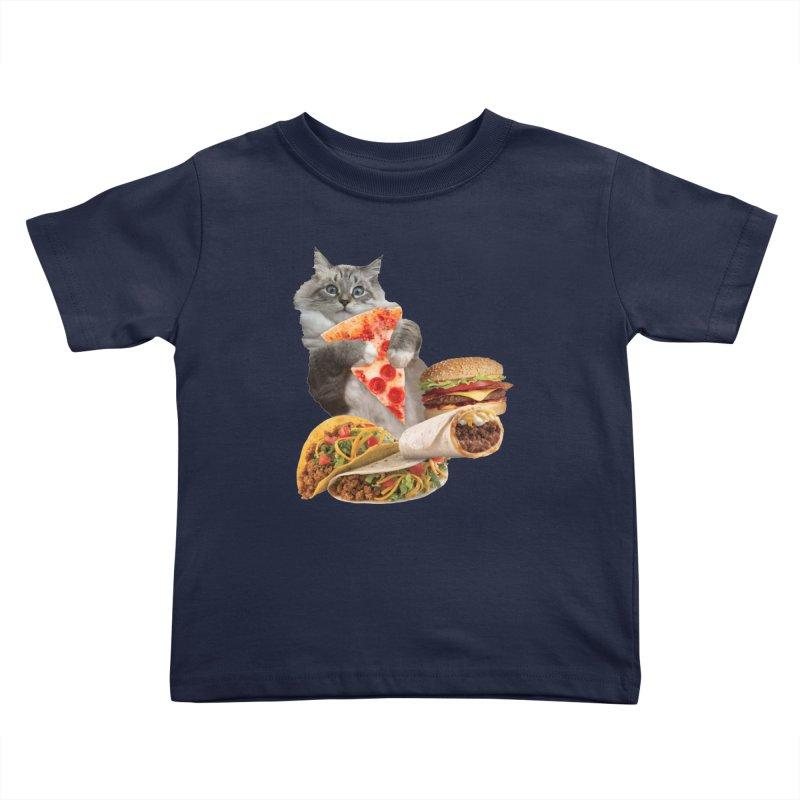 Taco Pizza Burger Cat  Kids Toddler T-Shirt by heARTcart's Artist Shop