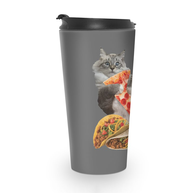Taco Pizza Burger Cat  Accessories Mug by heARTcart's Artist Shop
