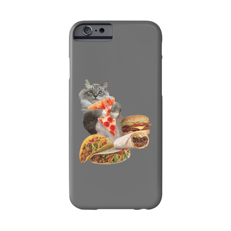 Taco Pizza Burger Cat  Accessories Phone Case by heARTcart's Artist Shop