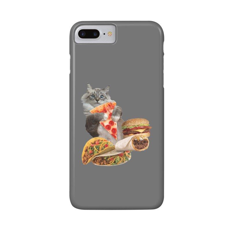 Taco Pizza Burger Cat  Accessories Phone Case by heARTcart's Artist Shop