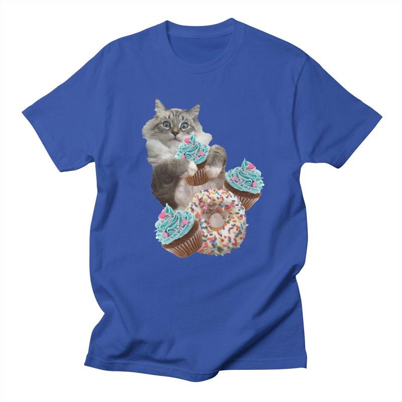 Cupcake Donut Cat  Men's T-Shirt by heARTcart's Artist Shop