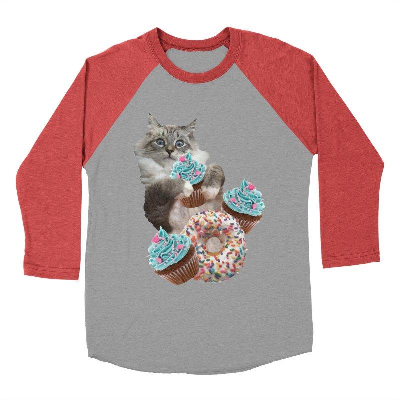 Cupcake Donut Cat  Men's Longsleeve T-Shirt by heARTcart's Artist Shop