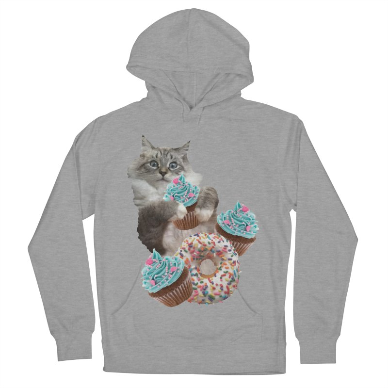 Cupcake Donut Cat  Women's French Terry Pullover Hoody by heARTcart's Artist Shop