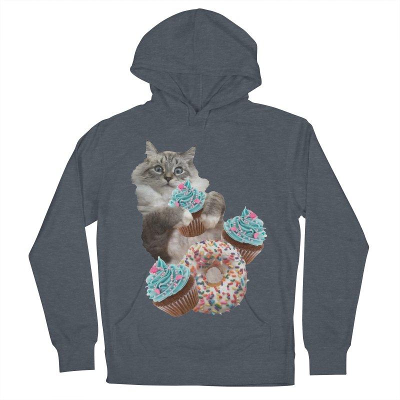 Cupcake Donut Cat  Men's Pullover Hoody by heARTcart's Artist Shop