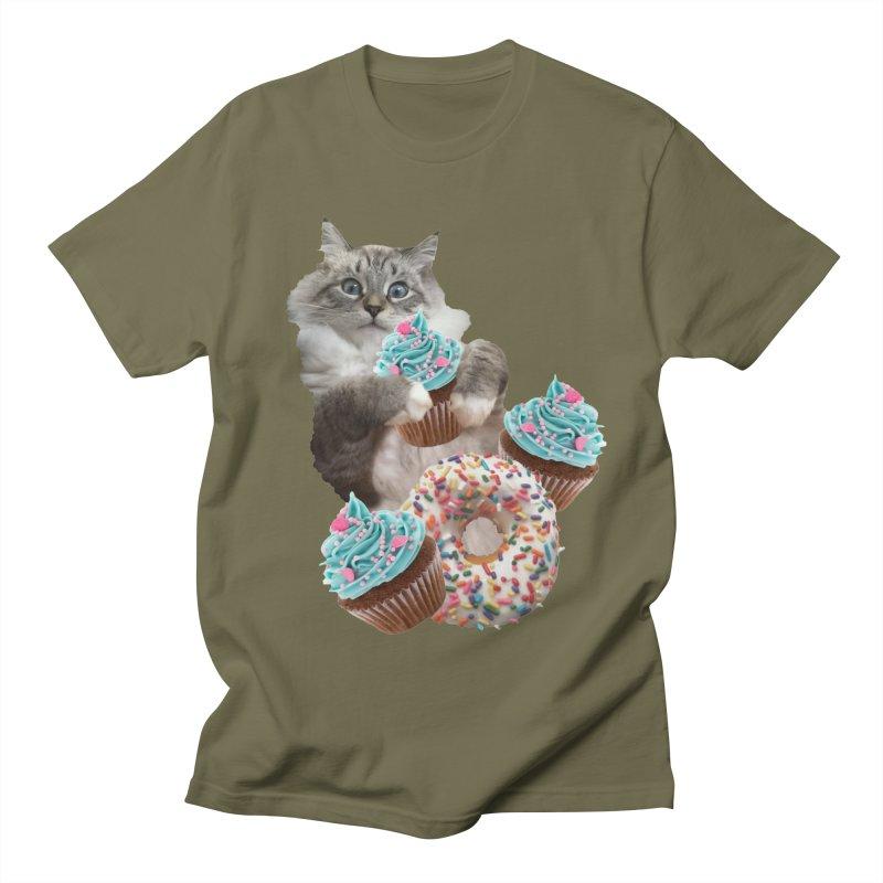Cupcake Donut Cat  Women's Regular Unisex T-Shirt by heARTcart's Artist Shop