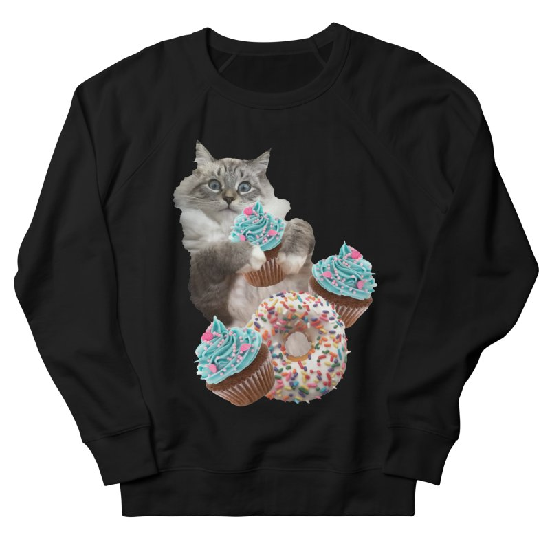 Cupcake Donut Cat  Women's Sweatshirt by heARTcart's Artist Shop