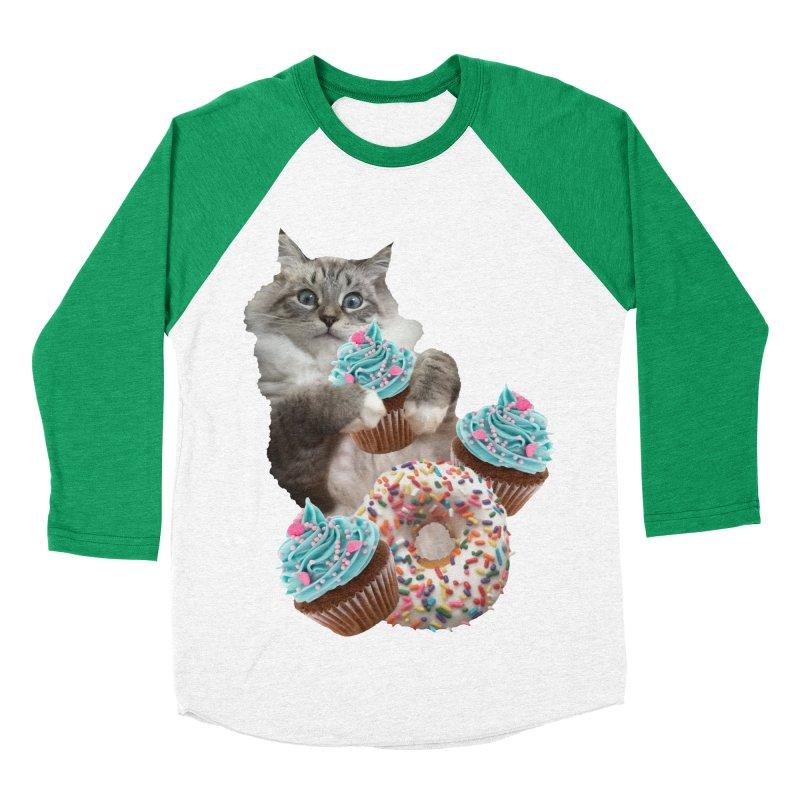 Cupcake Donut Cat  Women's Longsleeve T-Shirt by heARTcart's Artist Shop