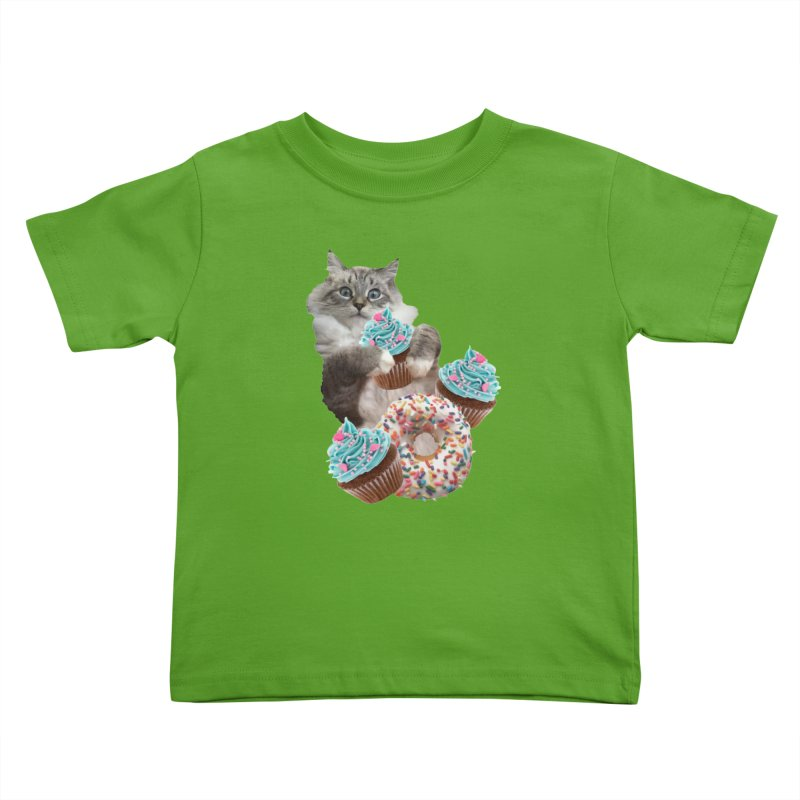 Cupcake Donut Cat  Kids Toddler T-Shirt by heARTcart's Artist Shop