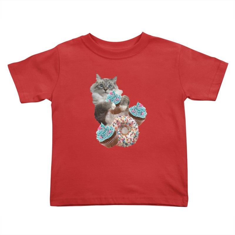 Cupcake Donut Cat  Kids Toddler T-Shirt by heARTcart's Artist Shop