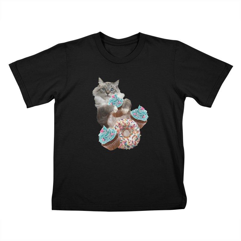Cupcake Donut Cat  Kids T-Shirt by heARTcart's Artist Shop