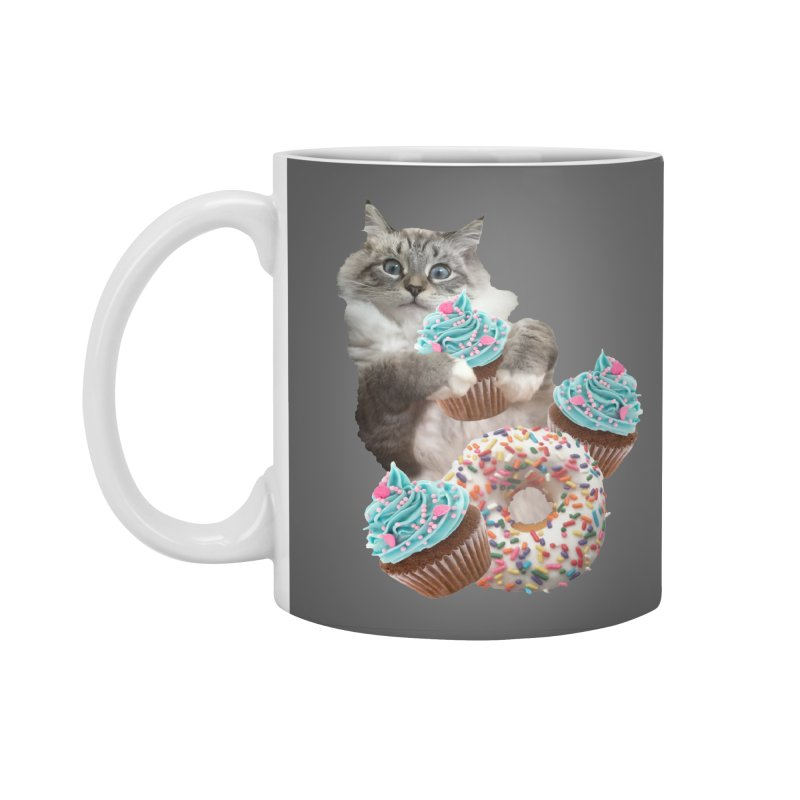 Cupcake Donut Cat  Accessories Standard Mug by heARTcart's Artist Shop