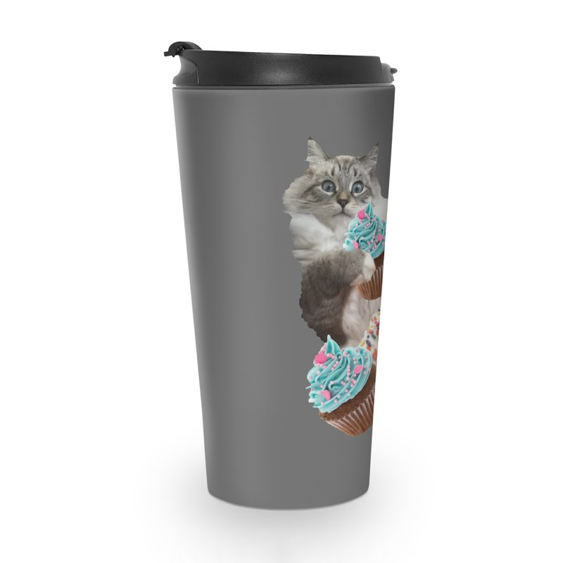 Cupcake Donut Cat  Accessories Travel Mug by heARTcart's Artist Shop