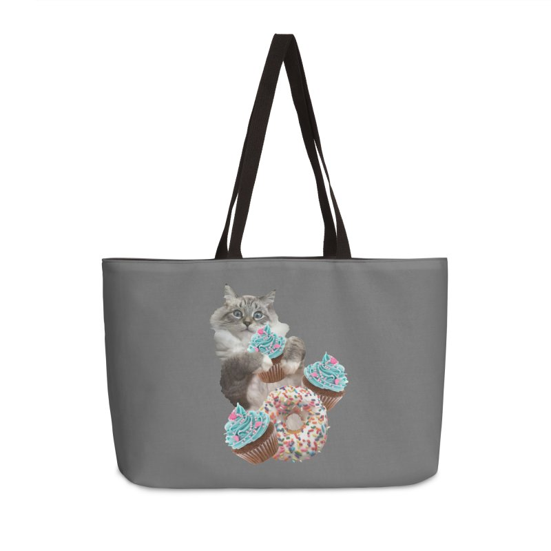 Cupcake Donut Cat  Accessories Bag by heARTcart's Artist Shop