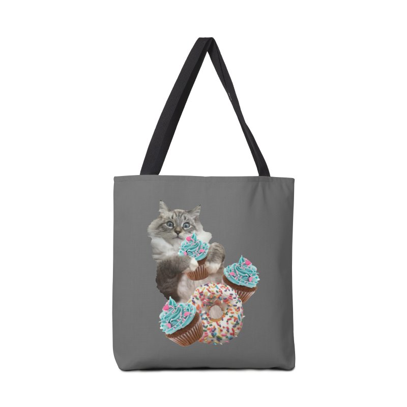 Cupcake Donut Cat  Accessories Tote Bag Bag by heARTcart's Artist Shop