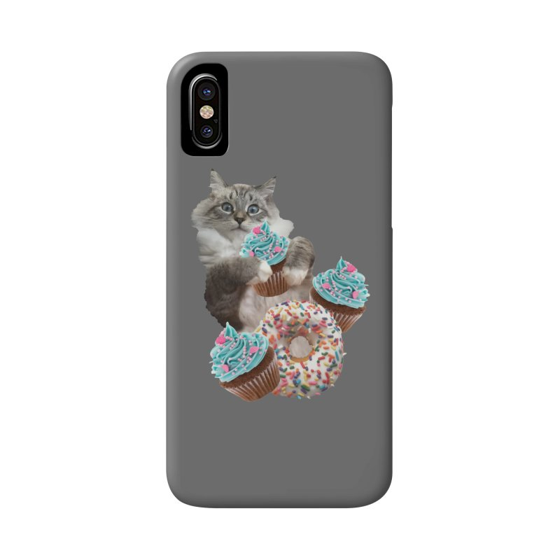 Cupcake Donut Cat  Accessories Phone Case by heARTcart's Artist Shop