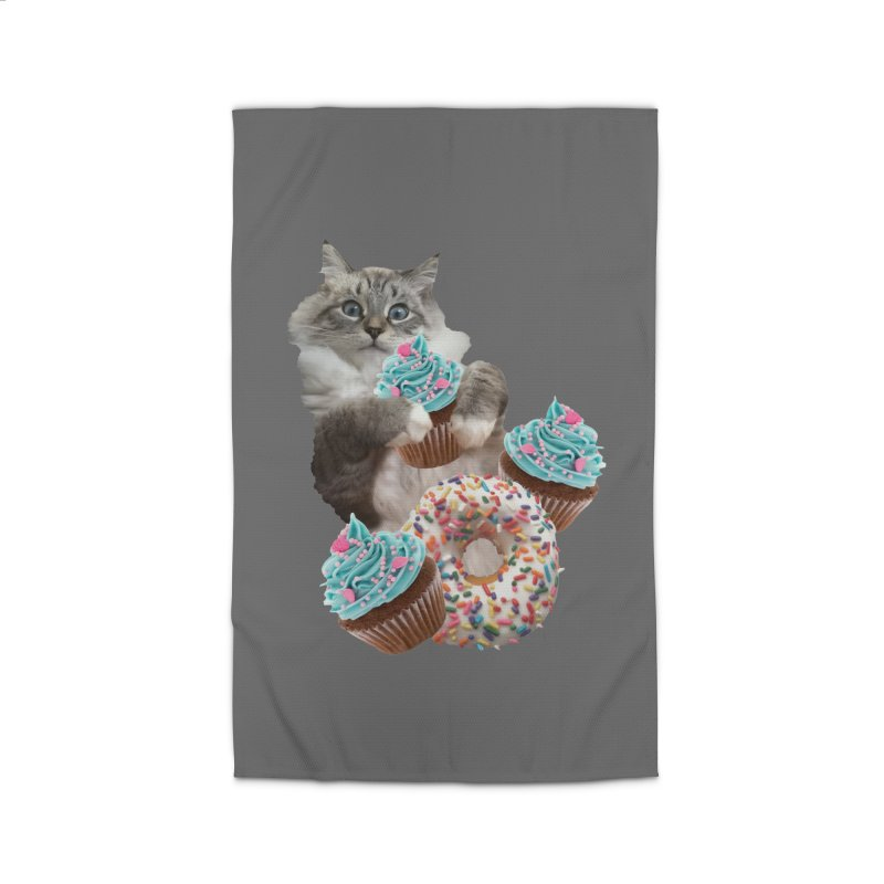 Cupcake Donut Cat  Home Rug by heARTcart's Artist Shop