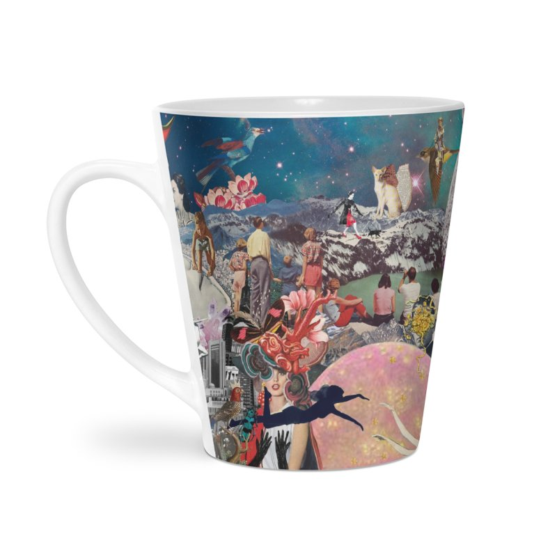 Collage Inception Accessories Latte Mug by heARTcart's Artist Shop