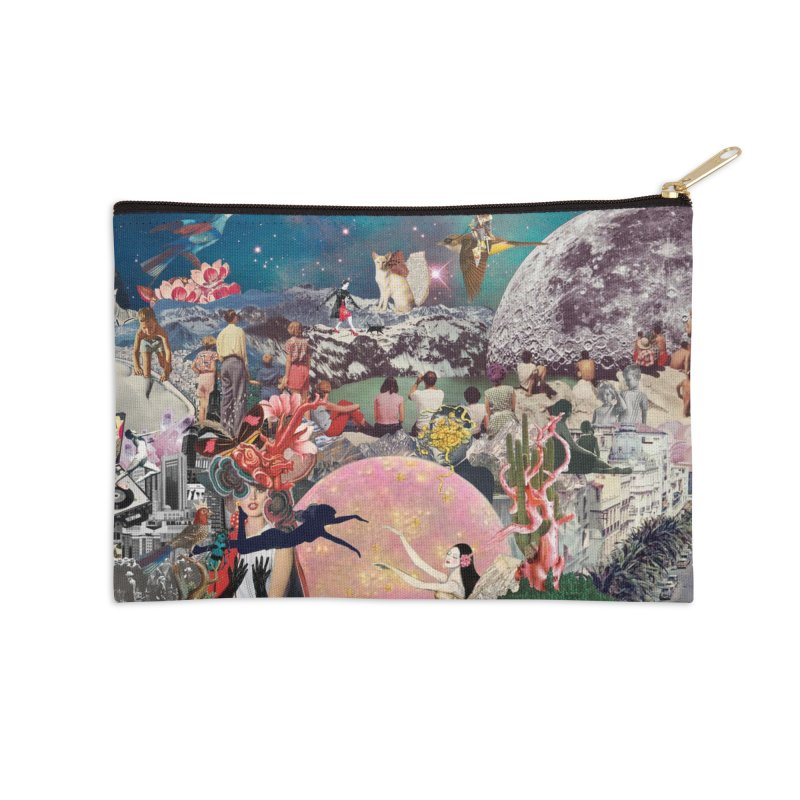Collage Inception Accessories Zip Pouch by heARTcart's Artist Shop