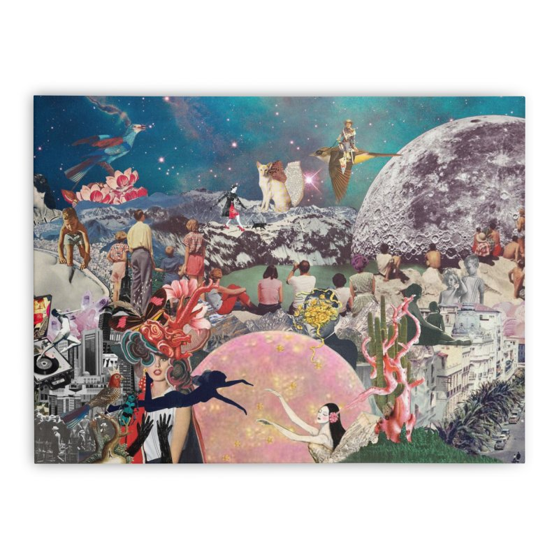 Collage Inception Home Stretched Canvas by heARTcart's Artist Shop