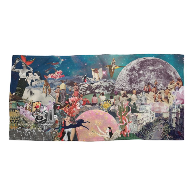 Collage Inception Accessories Beach Towel by heARTcart's Artist Shop