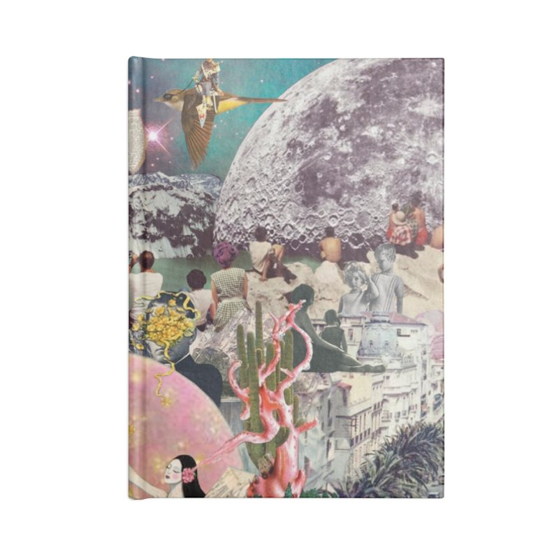 Collage Inception Accessories Lined Journal Notebook by heARTcart's Artist Shop