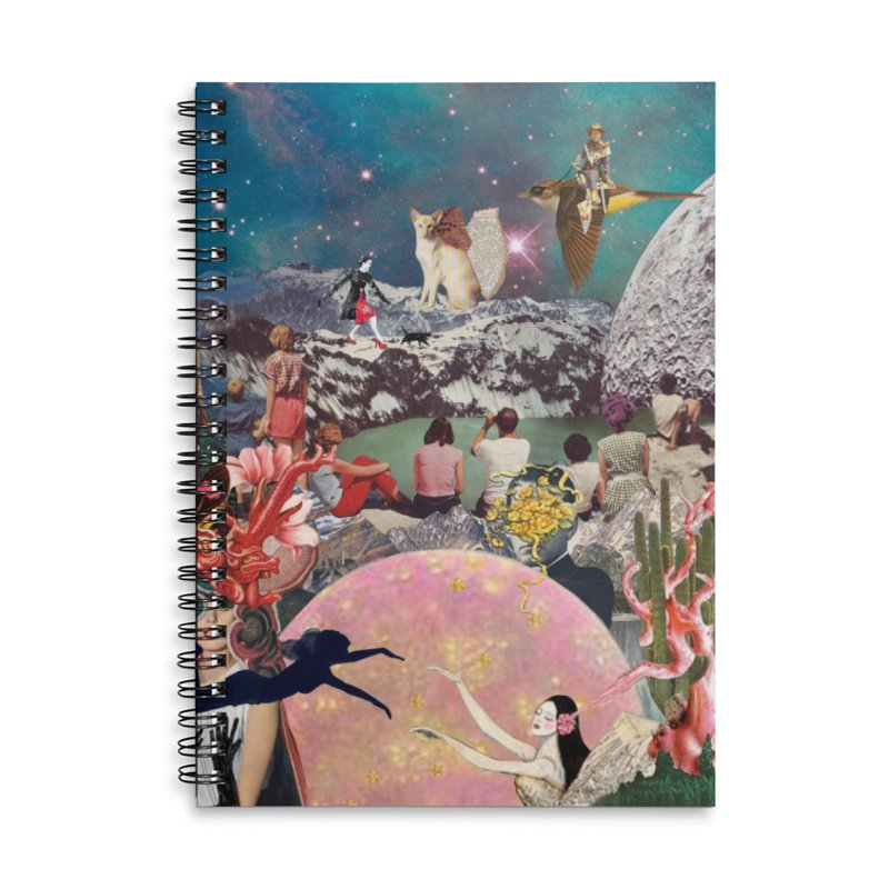 Collage Inception Accessories Lined Spiral Notebook by heARTcart's Artist Shop