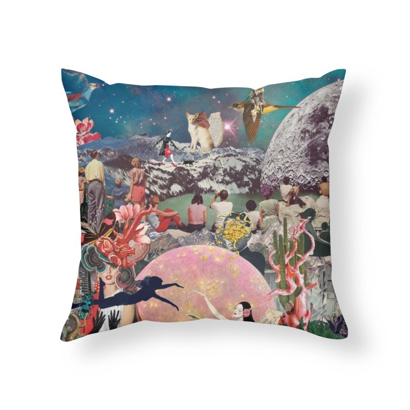 Collage Inception Home Throw Pillow by heARTcart's Artist Shop