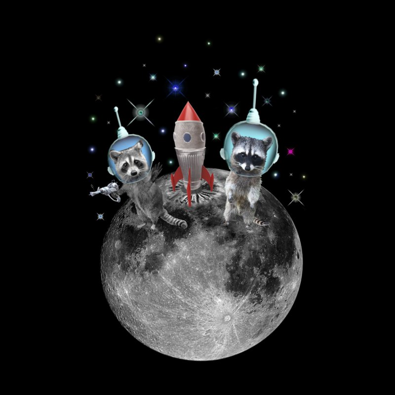 Raccoons in Space Trash Panda Moon Landing   by heARTcart's Artist Shop