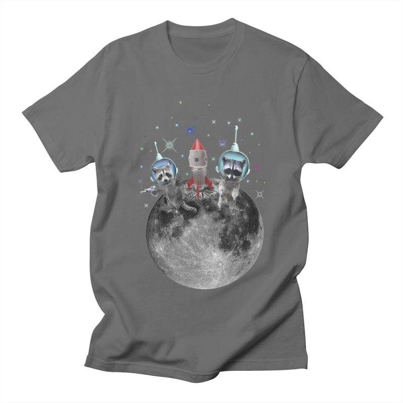 Raccoons in Space Trash Panda Moon Landing Men's T-Shirt by heARTcart's Artist Shop