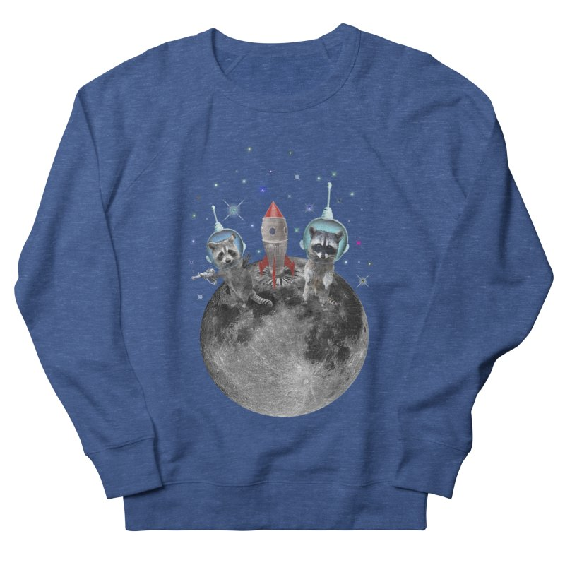 Raccoons in Space Trash Panda Moon Landing Men's Sweatshirt by heARTcart's Artist Shop