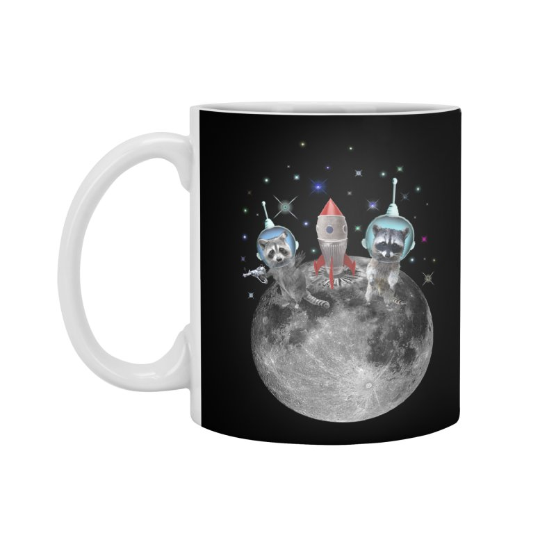 Raccoons in Space Trash Panda Moon Landing Accessories Standard Mug by heARTcart's Artist Shop