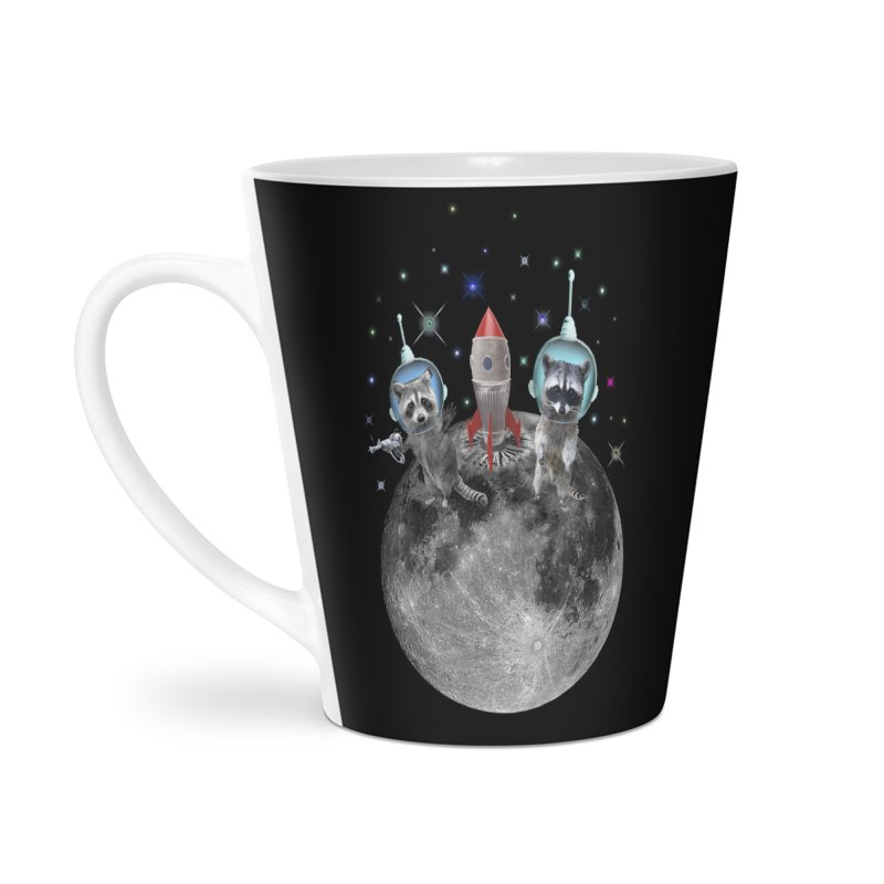Raccoons in Space Trash Panda Moon Landing Accessories Mug by heARTcart's Artist Shop