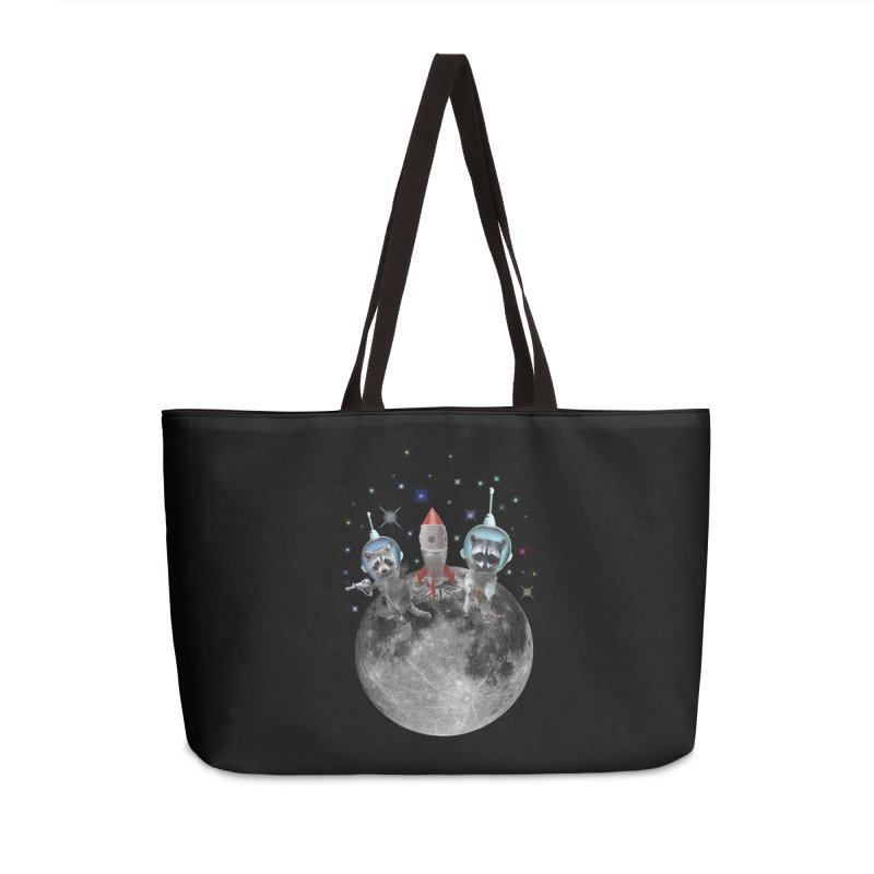 Raccoons in Space Trash Panda Moon Landing Accessories Bag by heARTcart's Artist Shop