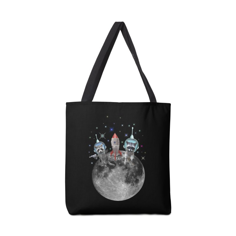 Raccoons in Space Trash Panda Moon Landing Accessories Bag by heARTcart's Artist Shop