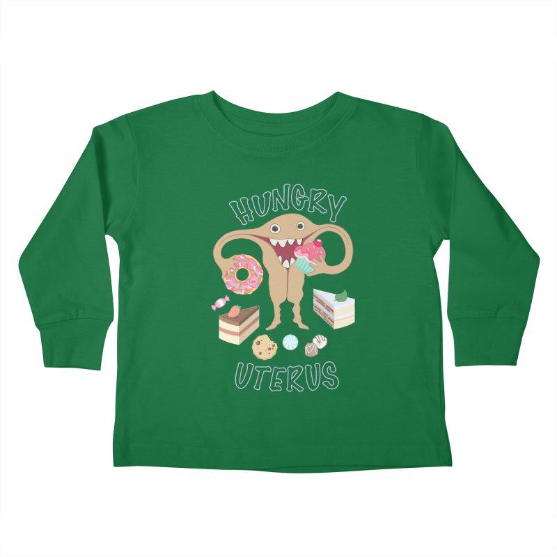 Hungry Uterus Sweet Tooth Kids Toddler Longsleeve T-Shirt by heARTcart's Artist Shop