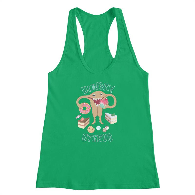 Hungry Uterus Sweet Tooth Women's Racerback Tank by heARTcart's Artist Shop