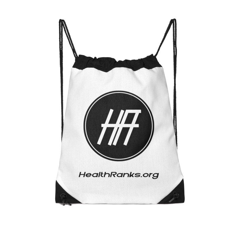 "HR ""official"" logo Accessories Drawstring Bag Bag by HealthRanks.org GEAR"