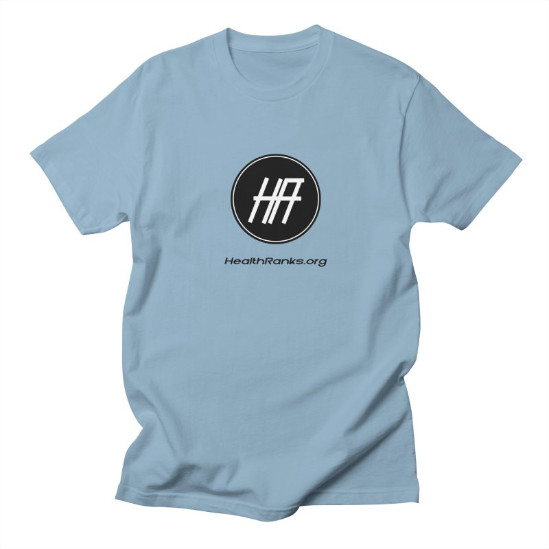 "HR ""official"" logo in Men's Regular T-Shirt Light Blue by HealthRanks.org GEAR"
