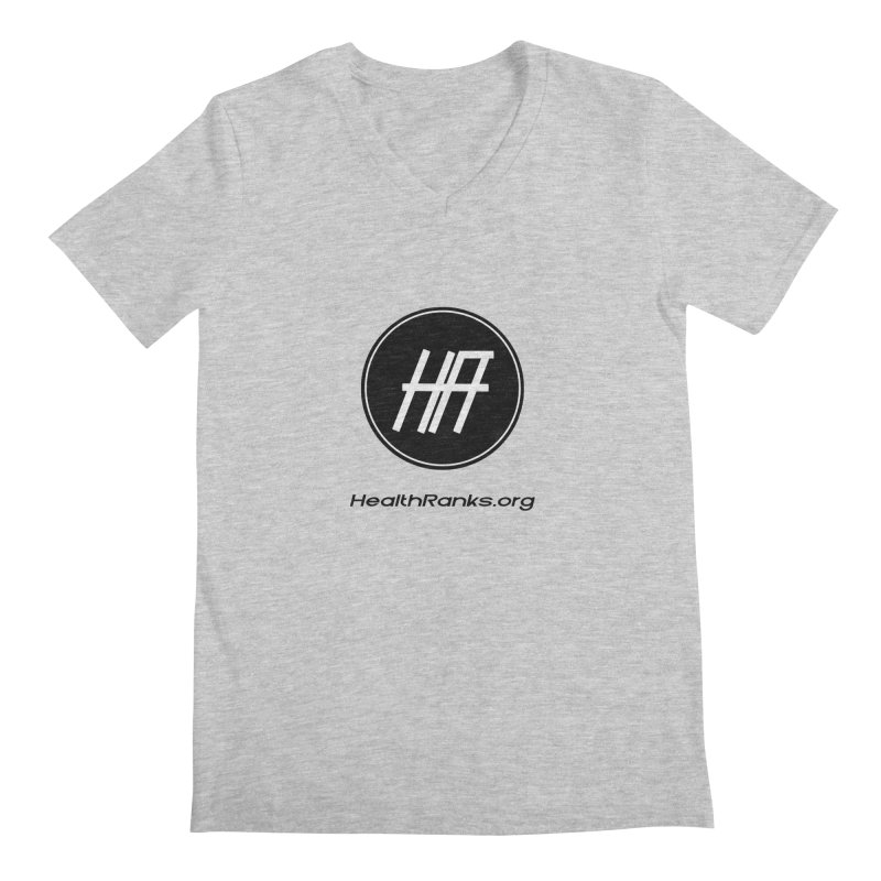 "HR ""official"" logo Men's V-Neck by HealthRanks.org GEAR"