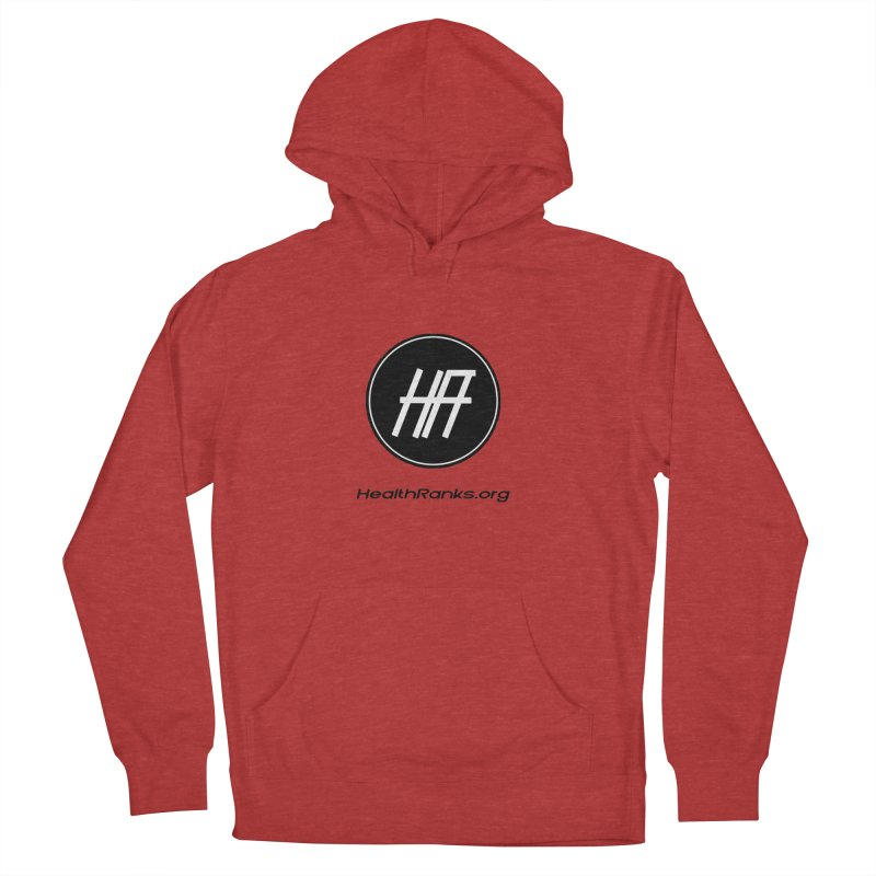 "HR ""official"" logo Women's French Terry Pullover Hoody by HealthRanks.org GEAR"